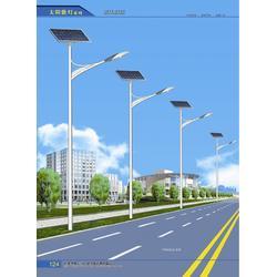 太阳能路灯,天煌照明,4米太阳能路灯灯杆图片