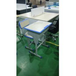 可升降学生课桌椅 双人课桌 单人课桌椅供应图片