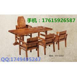 厂价供应优质碳化木/精制而成碳化木餐桌椅及厂家图片