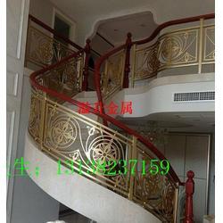 圆弧楼梯设计铝铜艺护栏栏杆扶手之通用图图片