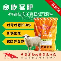 喂羊的饲料肉羊饲料预混料图片