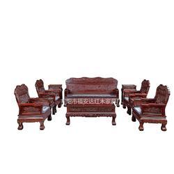 印度黑酸枝、印度黑酸枝国色天香素面沙发、东阳福安达红木家具厂图片