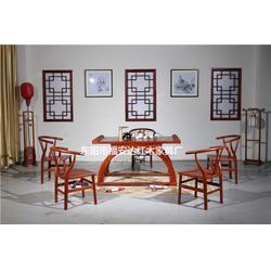 缅甸花梨木茶台6件套-缅甸花梨木-福安达红木家具种类多图片