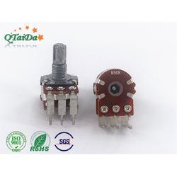 R16 R148双联弯脚电位器,立式直插柄电位器,碳膜电位器 音响用图片