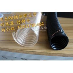 供应封边机吸尘管PU透明螺纹管镀铜钢丝伸缩管 聚氨酯四季柔软图片