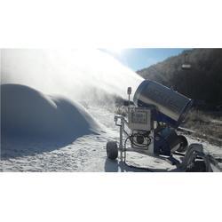 滑雪场设备安装 各大网络平台宣传造雪机图片