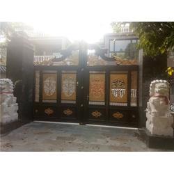 合肥庭院大门-亳州庭院大门 欧园居铝艺大门图片