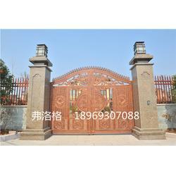 铝艺庭院大门定做,弗洛格铝艺,浙江别墅庭院大门图片