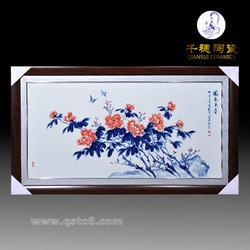 手绘瓷板画 高档仿古挂画家居客厅沙发背景墙_手绘瓷板画长方形图片