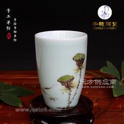 手绘陶瓷茶杯生产厂家,手绘陶瓷茶杯定制图片