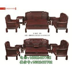 定做国色天香红木沙发厂家-吴越堂红木家具红酸枝图片