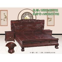财源滚滚红木床高端定制-吴越堂红木家具沙发图片