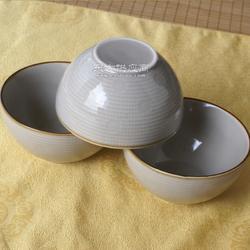 港鹏外贸出口尾单陶瓷碗创意饭碗库存5寸陶瓷碗色釉格子瓷碗图片