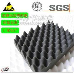 黑色50密度导电PU海绵背胶 自粘全方位导电泡棉图片