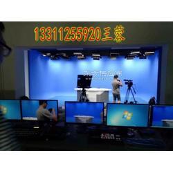 虚拟演播室建设用以抠像的蓝箱绿箱搭建 电视台虚拟演播室装修图片