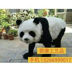 室内野生大熊猫模型展馆图片