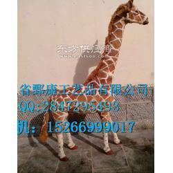 仿真长颈鹿,室外动物模型,长颈鹿广场雕塑图片