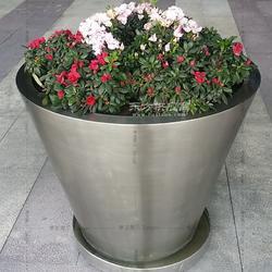 定制商场广场酒店大堂展厅居家客厅阳台圆筒不锈钢组合花盆 花钵图片