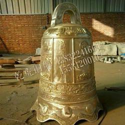 哪里做大铜钟 北京铜钟 乾虎铜雕塑图片