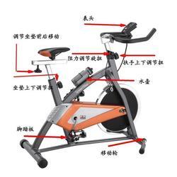 日照家用动感单车、大德五金健身房专用、家用动感单车公司图片