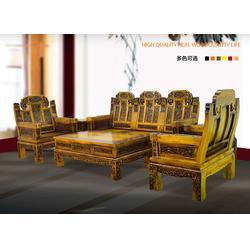 客厅榆木沙发五件套-东营榆木沙发-大唐古典家具图片