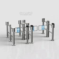 不锈钢圆柱摆闸带护栏超市感应门游乐场人行过道通道摆闸专业厂家图片
