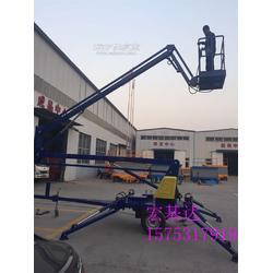 折臂拖车式升降机 高空作业车 升高14米升降机图片