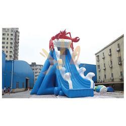 特价充气滑梯厂家,华乐气模,梅州充气滑梯厂家图片