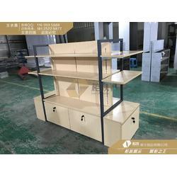 小米中岛配件柜标准_小米配件展示架多层板_小米小店展示柜定做图片