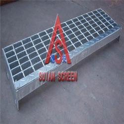 钢格板|穗安热镀锌格栅|冲孔防滑钢格板图片