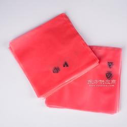 红色透明电子配件包装加厚pe防静电袋图片
