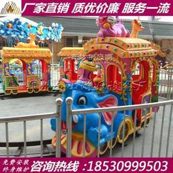 轨道小火车游乐设施 新款观光小火车多少钱图片