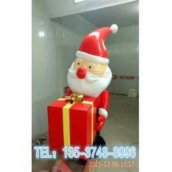 狂欢圣诞节美陈摆件玻璃钢圣诞老人模型雕塑图片