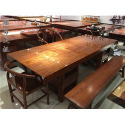 葫芦岛大板茶台-顺勇大板做工精美-实木大板茶台图片