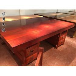 唐山办公桌-顺勇大板茶台-16人办公桌图片