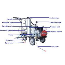 公路冷噴劃線機供應、遠宏交通設施(在線咨詢)、渭南冷噴劃線機圖片