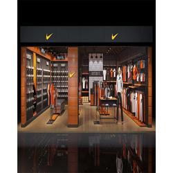 运动服装展柜靠墙展示架、雅枫展柜、达州运动服装展柜图片