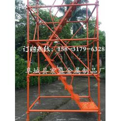 厂家供应 安全爬梯 组合框架式安全梯笼 施工通用爬梯图片