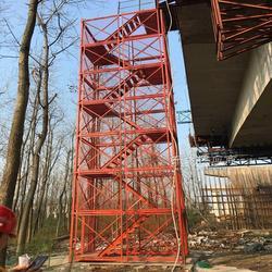 宏盛供应箱式安全爬梯 隧道施工梯笼 基坑通道图片