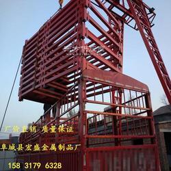 地铁基坑梯笼 箱式笼梯 安全爬梯图片