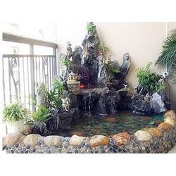 室内流水假山设计-吕梁室内流水假山-太原恒阳园林假山制作