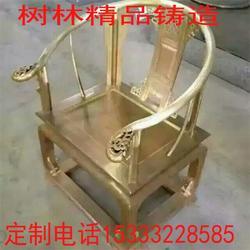 八抬龙椅_龙椅_大型铜椅雕塑图片
