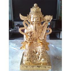 关公铜财神像,大型佛像雕塑,铜财神图片