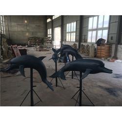 哪里有卖海豚雕塑的-乐山铜雕海豚-艺都雕塑图片