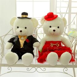 公仔婚礼压床娃娃、压床娃娃、海通工艺毛绒玩具厂家图片