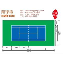 塑胶网球场造价-张家港塑胶网球场造价-中江体育(优质商家)图片