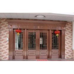酒店铜门厂家-荣刚金属制品-漳州酒店铜门