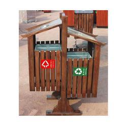 泉景轩木制品质优价廉、小区广场木质垃圾桶、滨州木质垃圾桶图片