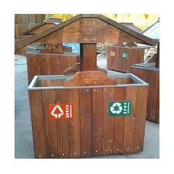 垃圾桶-泉景轩木制品(优质商家)钢木垃圾桶图片