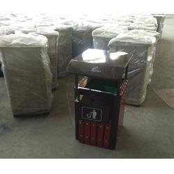 淄博木垃圾桶_泉景轩木制品_钢木垃圾桶系列图片